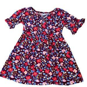 Old Navy Girls Purple/Pink Floral Dress 4T